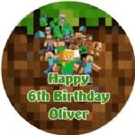 Personalised Edible Minecraft Cake Topper